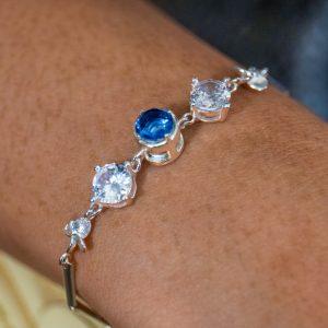 Sterling Silver Flower Petal Bracelet